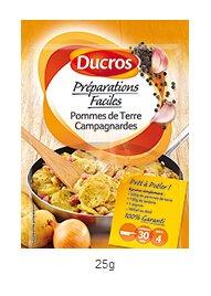 DUCROS - Solutions Cuisson - Preparations Faciles Pret a poeler - Pommes de Terre Campagnardes - 25 g