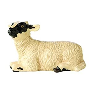 John Beswick Black Faced Lamb Figurine, Earthenware, Black/White
