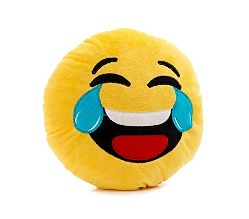 621041 Cuscino emoticon risata con lacrime emoji pillow faccine diametro 30 cm. MEDIA WAVE store
