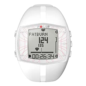 Polar Ft40F Women's Heart Rate Monitor Watch(White)