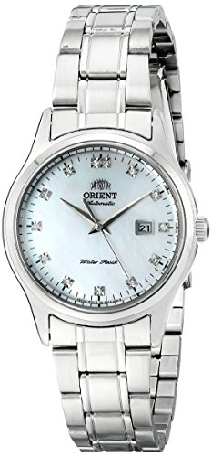 Orient Charlene Women's Dress Watch with MOP Dial and Crystal Hour Markers NR1Q004W