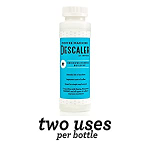 Descaler / Descaling Solution for Keurig, Nespresso, and Other Coffee/Espresso Machines - Made in USA - 2 Uses Per Bottle by Impresa Products