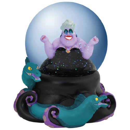 Westland Giftware Musical Water Globe Figurine, 100mm, Disney Villain Ursula
