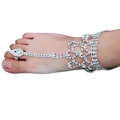 LUNIWEI Stylish Women Barefoot Sandals Beach Foot Jewelry Wedding Chain... (Little Feet Necklace compare prices)