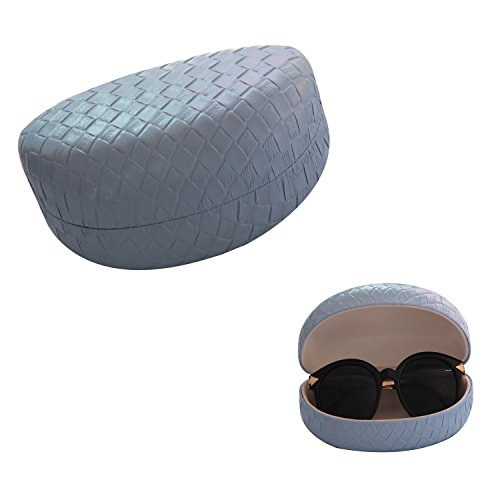 lucky-leaf-women-men-sunglasses-goggles-case-eyeglass-leather-holder-hard-clam-shell-with-cloth-and-