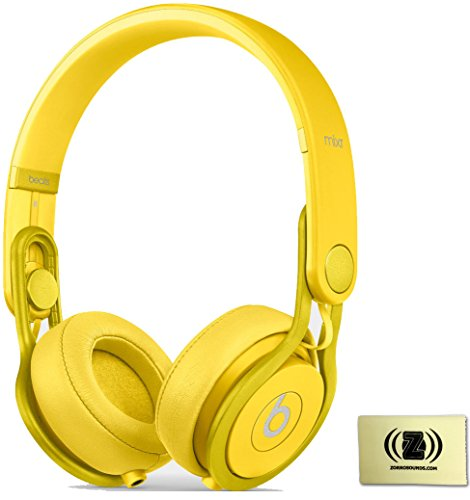 Beats By Dr. Dre Yellow Mixr On-Ear Dj Headphones Bundle With Zorro Sounds Cleaning Cloth