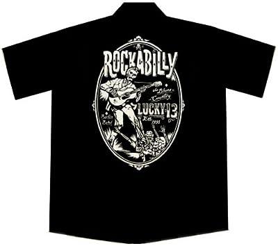 Rockabilly Zombie Guitar Work Shirt, Lucky 13