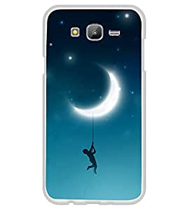 Hanging with Moon 2D Hard Polycarbonate Designer Back Case Cover for Samsung Galaxy J7 J700F (2015 OLD MODEL) :: Samsung Galaxy J7 Duos :: Samsung Galaxy J7 J700M J700H