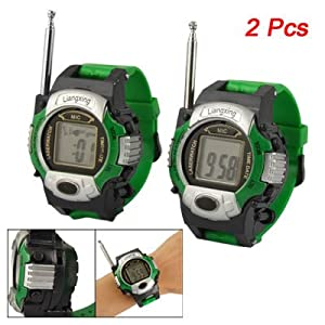 Amazon.com: Como 2 Pcs Green Wrist Strap Walkie Talkie Watches Toys
