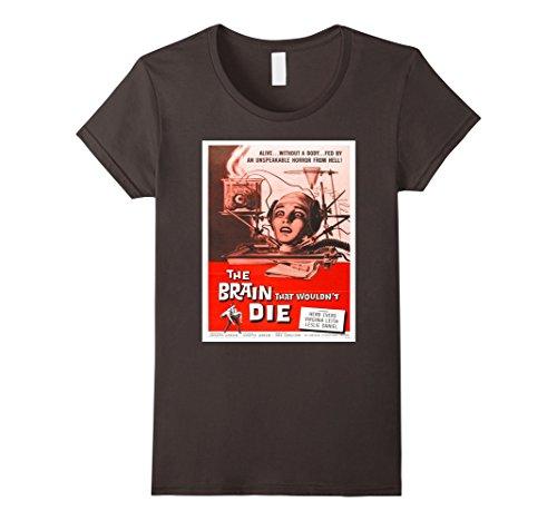 [Women's The Brain That Wouldn't Die Sci Fi Horror T-Shirt Tee Shirt Large Asphalt] (Sci Fi Halloween)