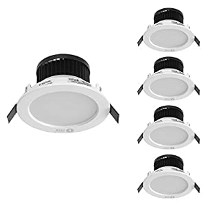 LE 8W 3.5-Inch LED Recessed Ceiling Lights, 75W Halogen Bulb Equivalent, Daylight White, Recessed Light, Downlight, Pack of 4 Units by Lighting EVER