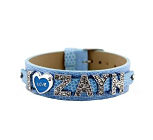 One Direction Crystal Slider Letter Wristband Bracelet - I Love Zayn from Fun Daisy Jewelry