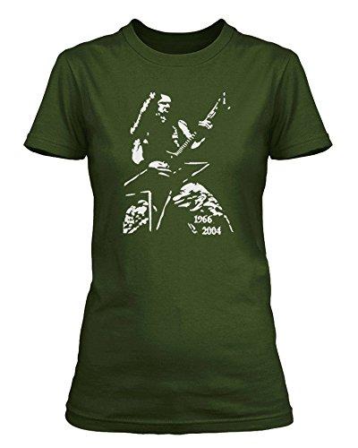 Dimebag Darrell-Pantera/damageplan maglietta, Donna Verde Oliva Medium