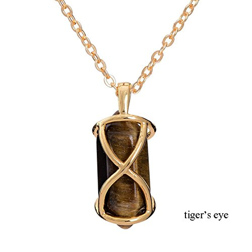 Someed collana delle donne della collana del pendente (TM) Design Healing Crystal Stone Natural Point rosa cristallo di quarzo rosa della pietra di gemma