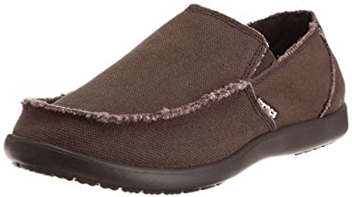 Crocs Men's Santa Cruz Slip-On Loafer,Espresso,7 (D)M US