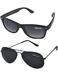 kids designer sunglasses xt9b  MaFs Classic Black Aviator Wayfarer Combo Pack Boys Sunglasses DSC_066