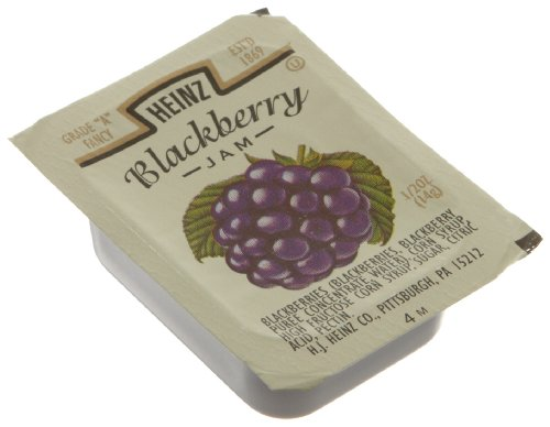 Heinz Blackberry Jam, 0.5-Ounce Single Serve Packages (Pack of 200)