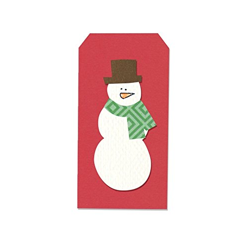 Sizzix Framelits Snowman & Tag 4 Die Set with Stamps by Stephanie ...