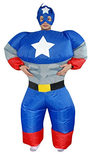Ace Halloween Adult Men's Inflatable Suit Captain America Costumes