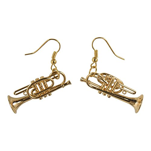 Ohrhnger-Trompete-Schnes-Geschenk-fr-Musiker-mit-Geschenkverpackung