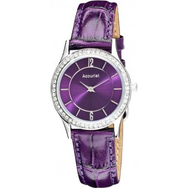 Accurist LS649P Ladies All Purple Watch