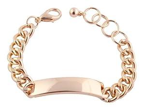 Ladies Gold ID Chain Adjustable Bracelet