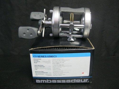 Abu Garcia 6500C3 Ambassadeur C3 Baitcast Round Reel (3 Ball-Bearing, Gear Ratio 5.3:1, Capacity 14/245)
