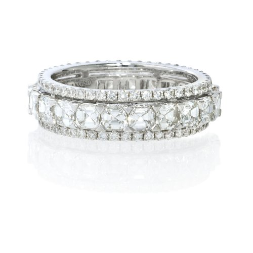 Diamond 18k White Gold Eternity Wedding Band