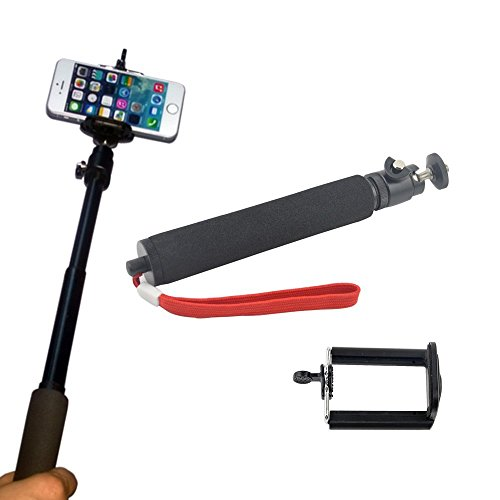 Extender Telescoping Monopod Pole + Clip Bracket Mount Holder For Iphone 5S 5 5C 4S 4G Samsung Galaxy S5 S4 S3 Htc One Sony Mobile Phone Dslr Camera Digital Camera Gopro Hero Canon Sony