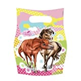Pink Charming Horses Loot Party Bags 6pk