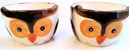 Set of 2 Owl Ceramic Ramekins, Dessert Bowl Dishes