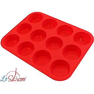 12-cup Muffin Cupcake Pan - BPA Free, Non-stick, 100% Food Grade Silicone - Non Stick - Lifetime Warranty!