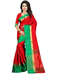 B4Best Creation Women's Poly Cotton Saree
