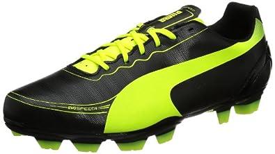 Puma Men's evoSPEED 5.2 FG Football Shoes  Black Schwarz (black-fluo yellow 01) Size: 6.5 (40 EU)