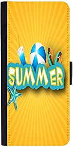 Snoogg Abstract Summer Background Designer Protective Phone Flip Case Cover For Lenovo Vibe X3