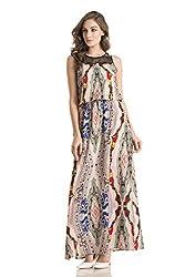 Kazo Women's A-Line Dress (109132BLACKCXL)