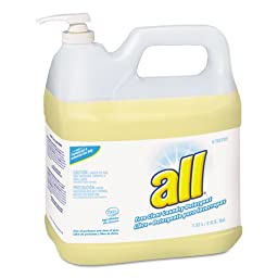 All Free Clear HE Liquid Laundry Detergent, 2 gal Pump Bottle - two 2-gallon bottles per case.