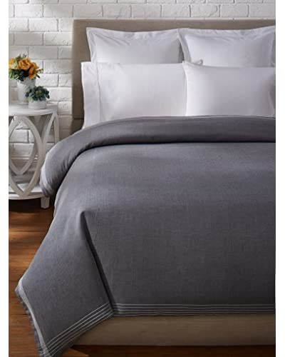 Coyuchi Simple Stitch Chambray Duvet Cover