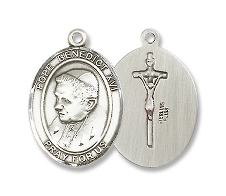 Pope Benedict XVI Sterling Silver Medal with 18