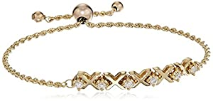 10k Yellow Gold Round Diamond Bolo Stretch Bracelet (1/3cttw, I-J Color, I2-I3 Clarity), 8.5
