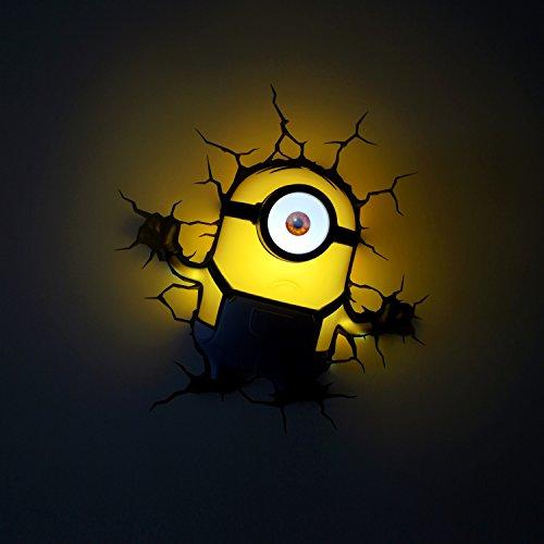 Despicable Me, Minion, Stuart-Lampada da parete in 3D)
