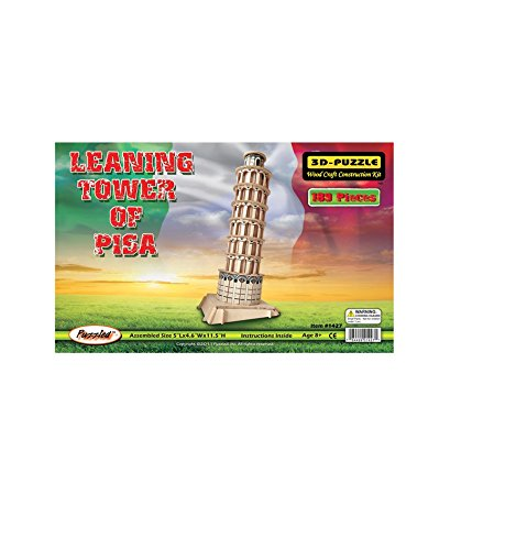 Puzzled, Inc. 3D Natural Wood Puzzle - Leaning Tower of Pisa - 1