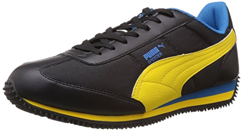 Puma Men's Speeder Tetron II Ind. Black-Dandelion-Blue Running Shoes - 10UK/India (44.5EU)  available at amazon for Rs.1792