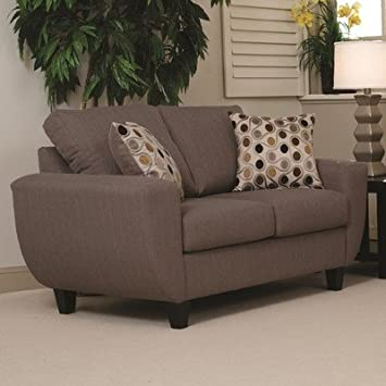 Loveseat Color: Stallion Taupe / Rosemont Café / Stallion Ivory
