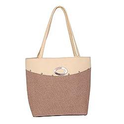 Womaniya Women's Handbag (Brown,Woman-944)