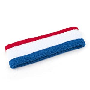 GOGO Patriot Style NBA Style Stripe Headbands, Sweatbands (Price  12 Pieces) by GOGO