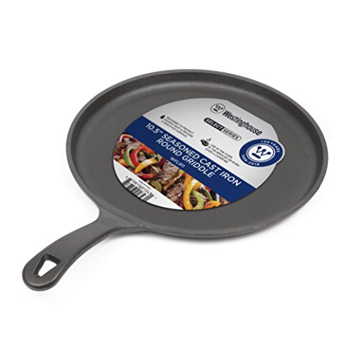Westinghouse WFL911 Select Series Seasoned Cast Iron 10 1/2 Inch Round Griddle - Amazon Exclusive