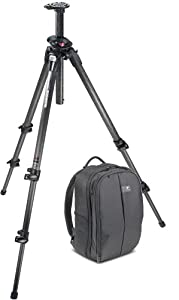 Manfrotto 190CXPRO 3-Section Carbon Fiber Tripod and Kata GearPack 100 DL Backpack (Black)