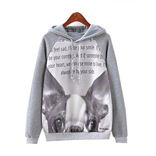 Star Fashion Animal Printed Hoodies Sweater Autumn and Winter (medium, A3)