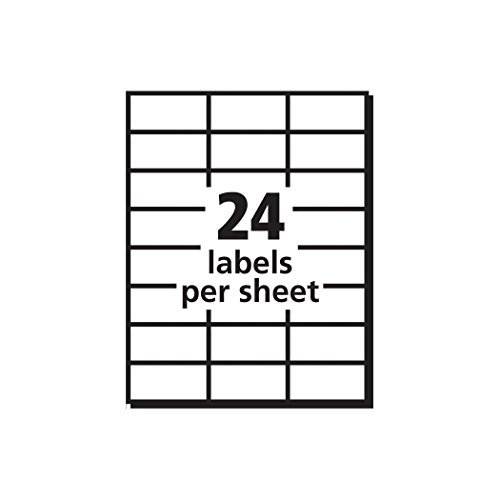 Avery white copier mailing labels ave5363 office for Label template 65 per sheet